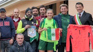 Photo of La nazionale irlandese di calcio femminile sul campo del Calerno