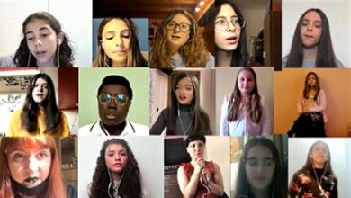 """Photo of I giovani allievi della Scuola di musica Pagliarini cantano """"Imagine"""""""
