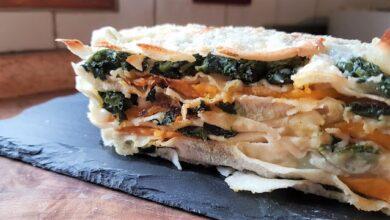 Photo of FATEMI CUCINARE: Terrina di pane carasau, spinaci, zucca e formaggi